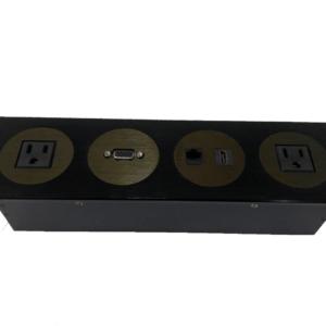 Grommet Con conexiones HDMI, VGA, Ethernet y Energia x2  ZSCC06