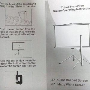 Telon con tripode de 1.53 x 1.53 cm